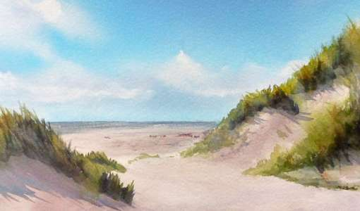 Küstenlandschaften in Aquarell